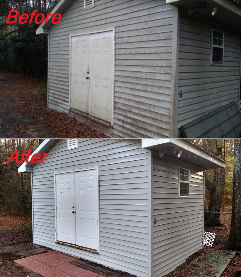 Shed Pressure Washing